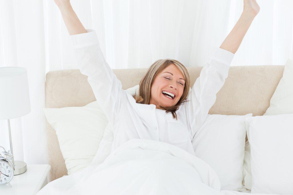 waking from a good nights sleep