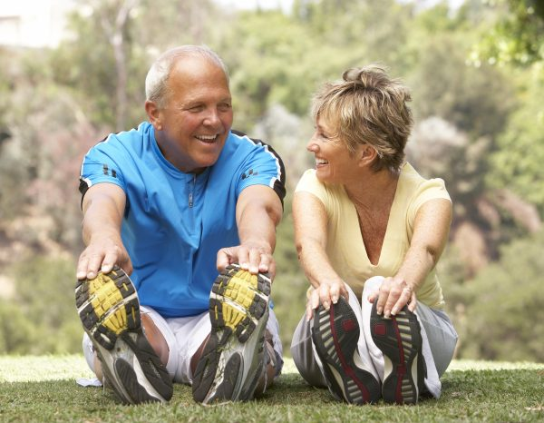 Senior Couple Exercising In Park Testosterone-Levels