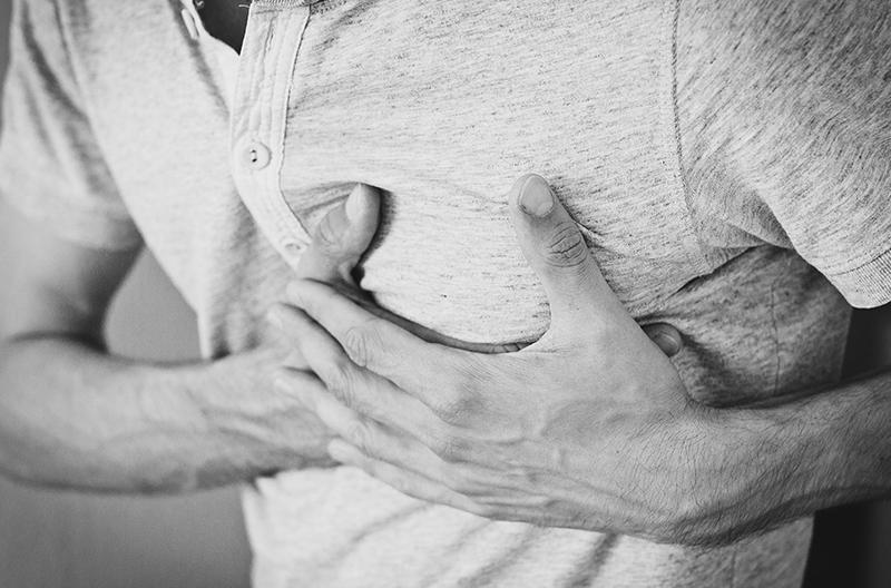 Man with heartburn